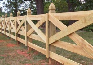 Five Rail Estate Fence