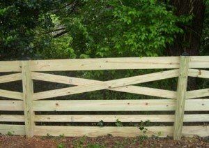 Six Rail Estate Fence (Horse Fence or Corral Fence)