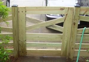Six Rail Estate Fence Gate
