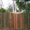 Flat board fence