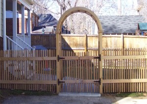 2 x 2 Picket with custom made Arbor