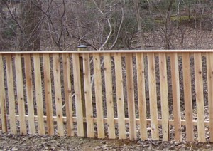 1 x 4 Picket Fence with Cap Board