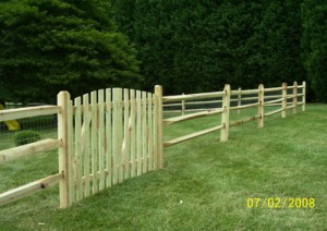 3 hole split rail fence