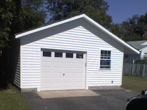 Restoring a detached garage: After the work was completed